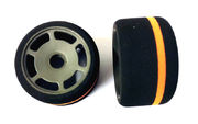 JFT 1/12 S Foam Tire Front 40 Shore Hard - With Orange Stripe (2)