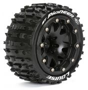 Louise Tires & Wheels ST-PIONEER 1/10 Black Beadlock (0) Soft MFT