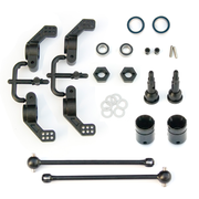 Tekno RC M6 Driveshafts and Hub Carriers - Slash 2WD rear