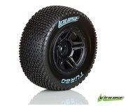 Louise SC - Turbo SC Tyre With Black Rim For Traxxas Rear (Mounted) - Soft (2)