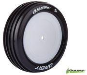 Louise E-Orbit 2WD Front Tire With White Rim - SuperSoft - Team Losi 22 (2)