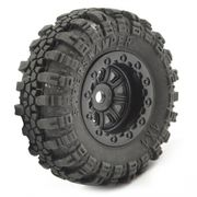FTX Outback Mini Swamper Tire & Wheel Set Black (4)