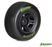Louise SC - Groove SC Tyre With Black Rim For Traxxas Rear (Mounted) - Soft - (2)