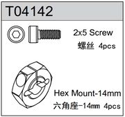 TeamC 14mm Hex Mount TM4 (4)