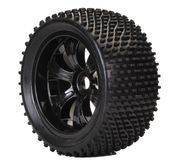 TeamC 1/8 Truggy Racing Tyre With Black Rim (2)