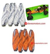 Outerwears Shockwears Solid Shock Cover Set for HPI Baja 5B/5T/5SC - Twisted Orange
