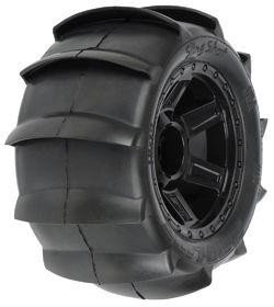 "Pro-Line Sling Shot 3.8"" (Traxxas Style Bead) Sand Tires Mounted (2)"