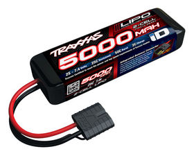 Traxxas 5000mAh 7.4-volt 2-cell 25C LiPo with iD-Connector - Short