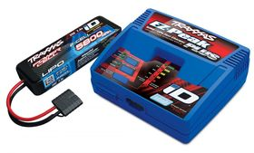 Traxxas Charger EZ-Peak Plus 4A and 2S 5800mAh Battery Combo