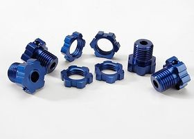 Opened Packing - Traxxas Wheel Hubs Splined 17mm Blue-Anodized (4)