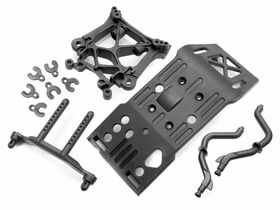 HPI Racing - Skid Plate / Body Mount / Shock Tower Set
