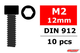 Team Corally Steel Screws M2 x 12mm Hex Socket Head (10)