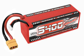 Team Corally Sport Racing 50C LiPo Battery 5400mAh 14.8V Stick 4S Hard Wire XT90
