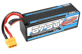 Team Corally X-Celerated 100C LiPo Battery - 6750 mAh - 14.8V - Stick 4S - Hard Wire - XT90