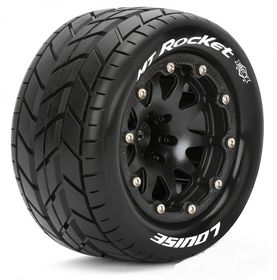 Louise Tires & Wheels MT-ROCKET 1/10 Black Beadlock (0) Soft MFT (2)