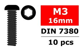 Team Corally - Steel Screws M3 x 16mm (10)