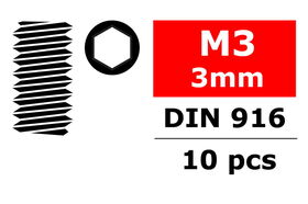 Team Corally - Steel Set Screw M3 x 3mm (10)