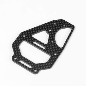 Tekno RC Center Diff Top Plate and Fan Mount - Carbon - EB410