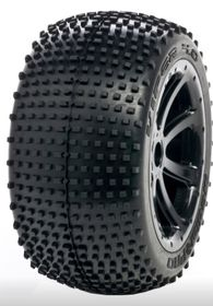 Medial Pro - Sport Tires mounted on Black Rims for Traxxas Revo & Maxx - Viper 4.0 - (2)