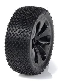 Medial Pro - Racing Tires mounted on Black Rims for Traxxas Slash 4x4 F&R - Matrix M4 Super Soft (2)