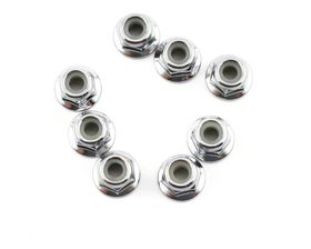 Traxxas  4mm Flanged Steel Nylon Locking Nuts - Serrated (8)